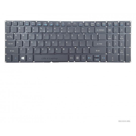Acer TravelMate P257-MG Klaviatūra US Juoda