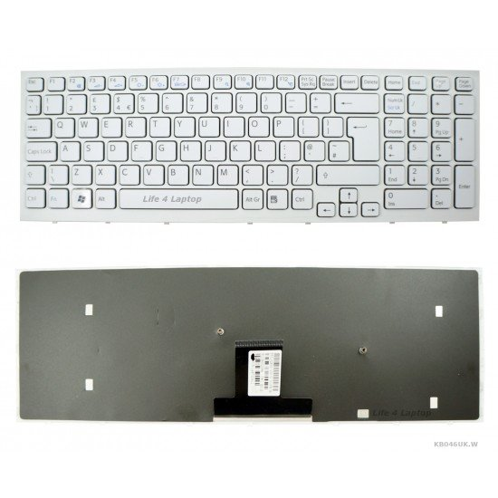 Sony VAIO VPCEB11GX Klaviatūra UK Balta