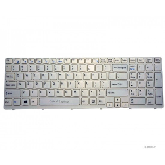 Sony VAIO SVE15132CXW Klaviatūra US Balta
