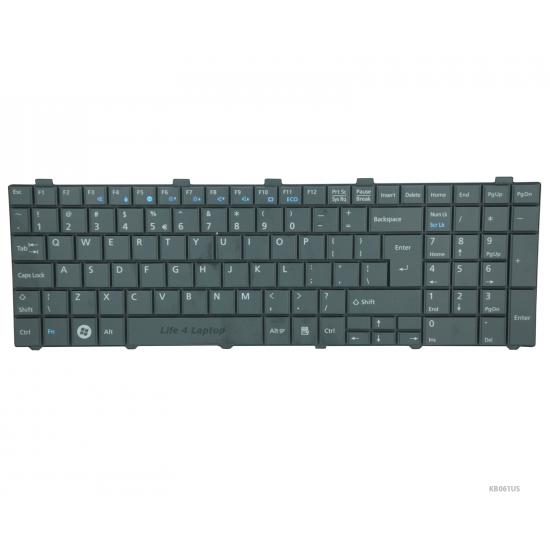 Fujitsu Lifebook AH530 Klaviatūra US Juoda