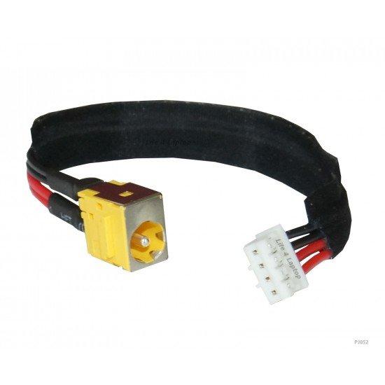 Acer Aspire 4920 DC Įkrovimo maitinimo lizdas (jungtis) su kabeliu